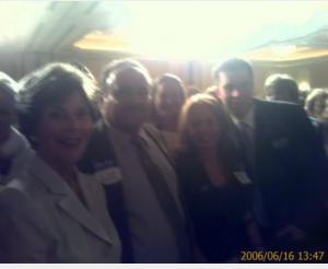 Laura Bush & Dr. Adam Z. Benjamin,