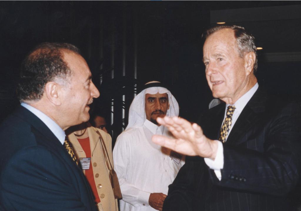 Nadhmi Auchi and President Goerge H. W. Bush
